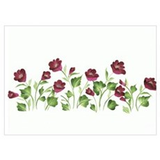 Purple Poppies Poster