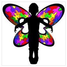 Autistic Butterfly Canvas Art