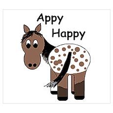 Appy Happy, Blanket Appaloosa Poster