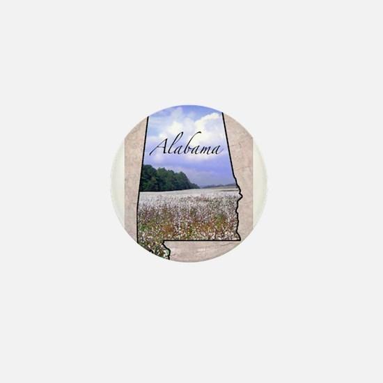 Cute State of alabama Mini Button