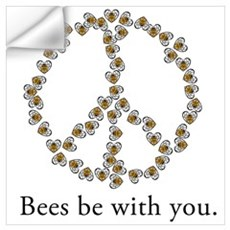 Bees be with you (peace symbo Wall Decal