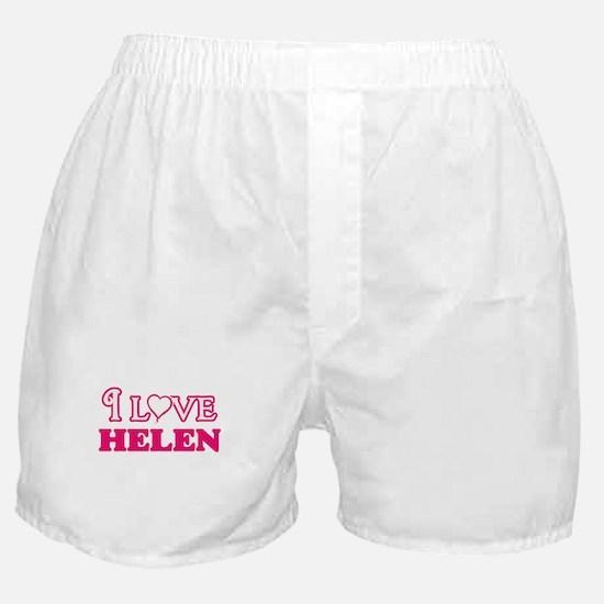 I Love Helen Boxer Shorts