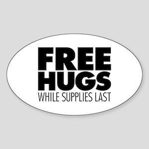 Free Hugs Sticker (Oval)