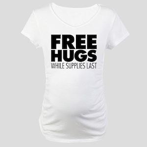Free Hugs Maternity T-Shirt