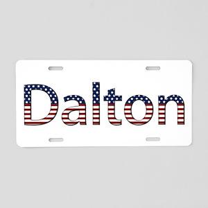 Dalton Stars and Stripes Aluminum License Plate