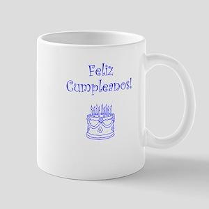Spanish Birthday Blue Mug