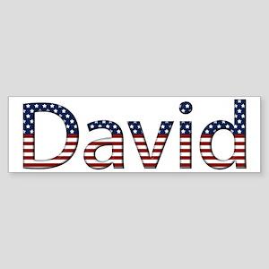 David Stars and Stripes Bumper Sticker