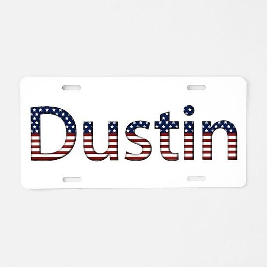 Dustin Stars and Stripes Aluminum License Plate