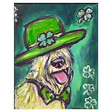 wheaten terrier St Paddy's da Poster