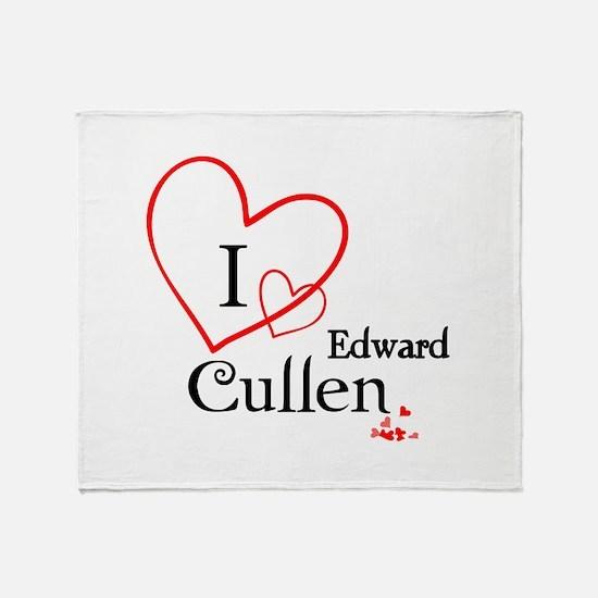 I love Edward Cullen Throw Blanket