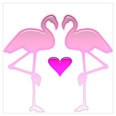 Flamingo Love Poster