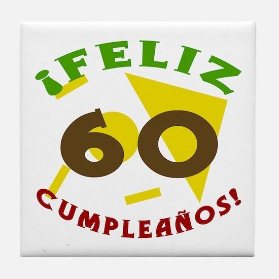 Feliz Cumpleaños (60) Tile Coaster