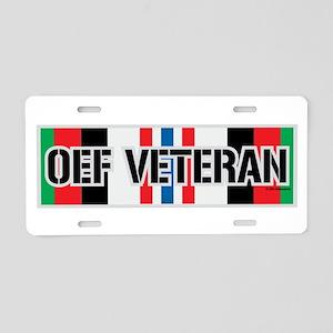 OEF Veteran Ribbon Aluminum License Plate