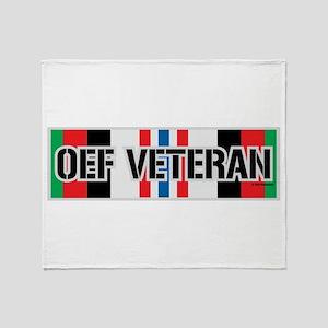 OEF Veteran Ribbon Throw Blanket