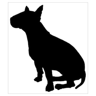 Bull Terrier Dog Breed Poster