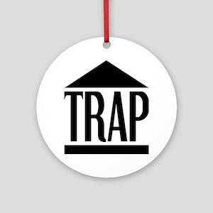 Trap House Round Ornament
