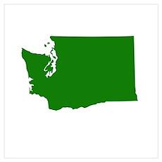 Green Washington Poster