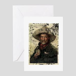 Vintage Cowboy Photo Greeting Card