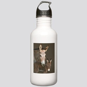Donkey foal and her mom Stainless Water Bottle 1.0