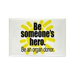 Organ Donor Hero Rectangle Magnet (100 pack)