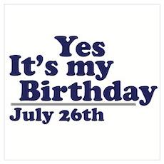 July 26 Birthday Poster