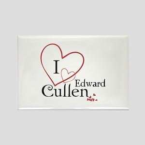 I love Edward Cullen Rectangle Magnet