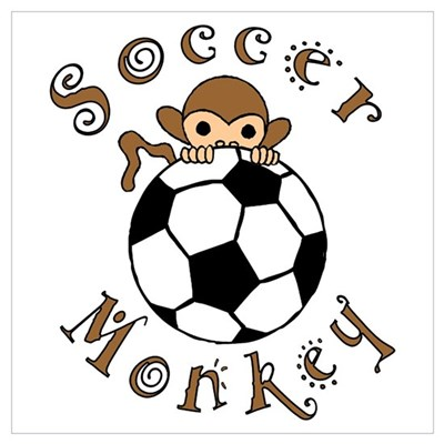 Soccer Monkey Canvas Art