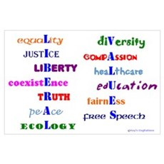 Liberal Values Poster