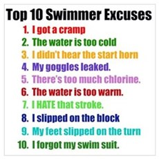 Swimming Excuses Framed Print