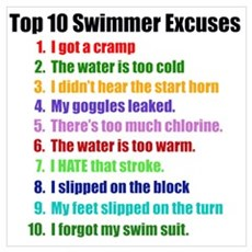 Swimming Excuses Poster