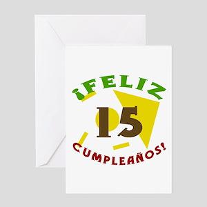 Feliz Cumpleaños (15) Greeting Card