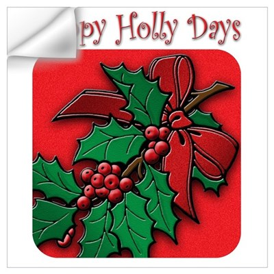 Happy Holly Days Wall Decal
