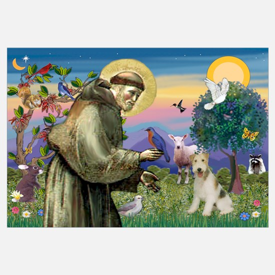 St. Francis & Wire Fox Terrier