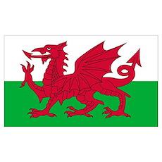 Welsh Flag Poster