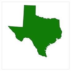 Green Texas Poster