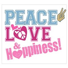 Peace Love and Happiness Poster
