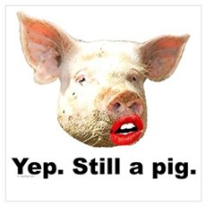Pig in Lipstick Poster