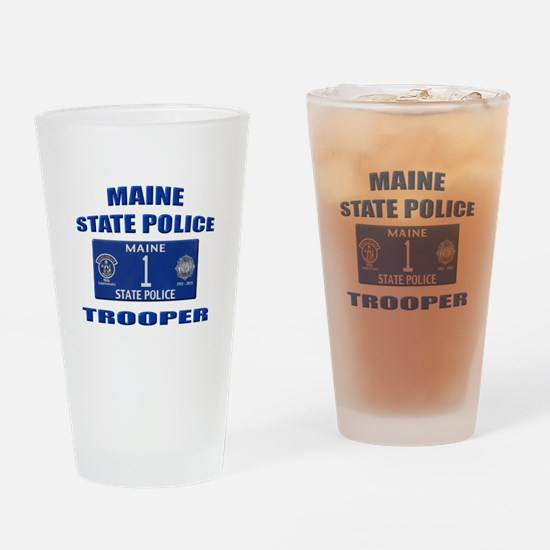 Maine State Police Drinking Glass