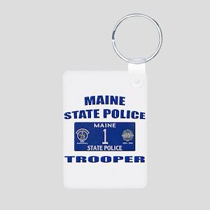 Maine State Police Aluminum Photo Keychain