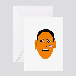 Obama face Greeting Card