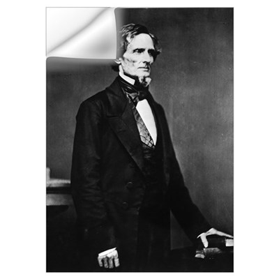 Confederate President Jefferson Davis Wall Decal