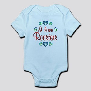 I Love Roosters Infant Bodysuit