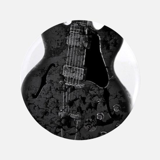 """Destroyed Art - Hollowbody Guitar 3.5"""" Button"""