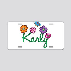 Karly Flowers Aluminum License Plate