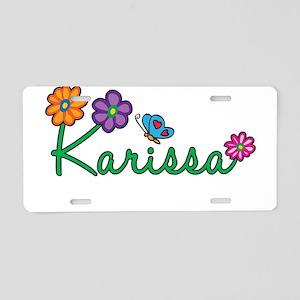 Karissa Flowers Aluminum License Plate