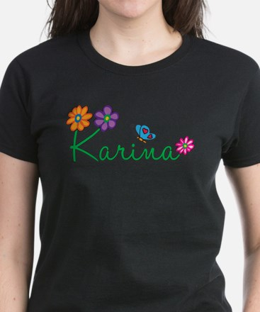 Karina Flowers Women's Dark T-Shirt