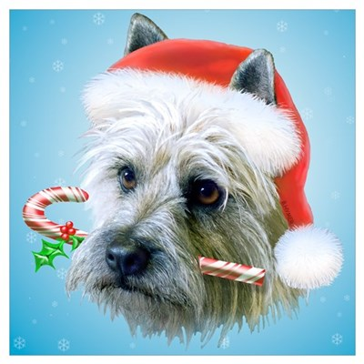 Carin Terrier Christmas Poster