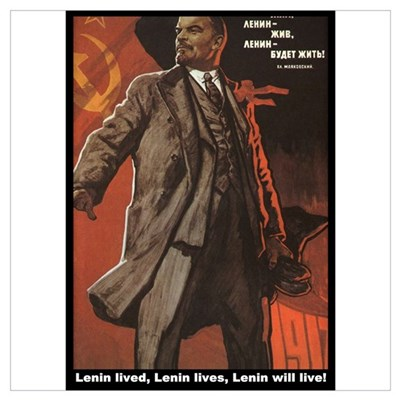 Lenin Lives! Framed Print