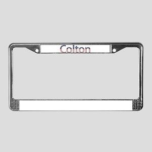 Colton Stars and Stripes License Plate Frame