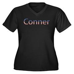 Conner Stars and Stripes Women's Plus Size V-Neck